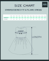 Fit & Flare Dress- Size Chart