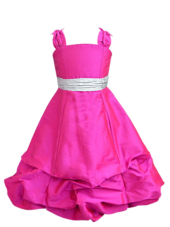 Fuchsia Ballroom Gown with Silver Belt - A.T.U.N.