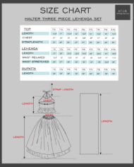 lehanga size charts