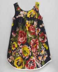 floral ardour black high low hem dress-2