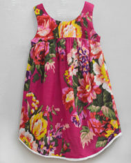 floral ardour magenta high low hem dress-2