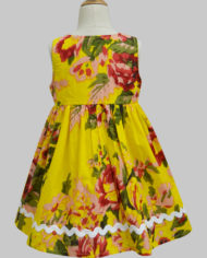 floral ardour yellow penelope dress-2