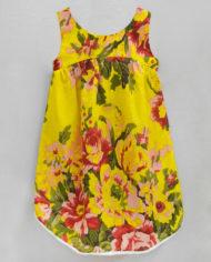 floral ardouryellow high low hem dress-2