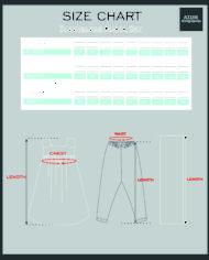 sleeveless kurta set size chart